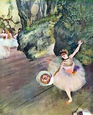 A3 Box Canvas Dancer with a bouquet of flowers The star of the ballet Degas Impr