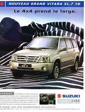 PUBLICITE ADVERTISING  2004   SUZUKI     le grand VITARA XL_7 TD