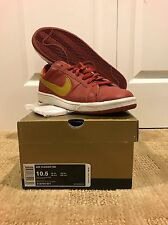2008 Nike SB Air Classic Dunk USC CAVS Cayenne Red Bronze Gold White 10.5