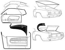 Mustang Rubber Kit Door Screen Trunk Weatherseals Seals 1969 1970 69 70 Fastback