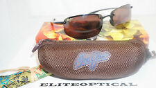 New Authentic Maui Jim HO'OKIPA Gloss Black/HCL Bronze H407-02