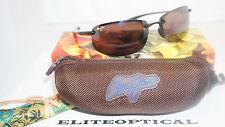 New Authentic Maui Jim HO'OKIPA Gloss Black/HCL Bronze H407-02