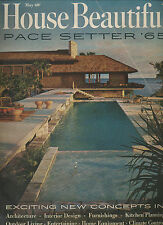 HOUSE BEAUTIFUL MAY 1965 5-65 PACE SETTER BEACH HOME CLASSIC! ATOMIC RANCH MODER