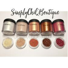 AUTH MAC Pigments *VANILLA, NAKED, MELON, ROSE, COPPER*Sample Set Lot 1/4tsp
