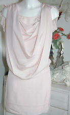 Axara Dress Kleid Wasserfall  Kurzarm Rose  Size: L Neu