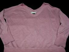 Shirt American Eagle Sz m V neck Pink Silver Glittery Stripes