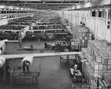 """B-24E Liberator Bombers Assembly Line 8""""x 10"""" World War II Photo 415"""