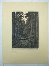 "Original Holzschnitt ""Waldweg"" Karl Hennemann"
