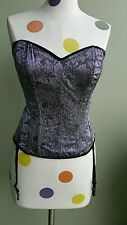 NWOT Shirley of Hollywood Lilac Lace Corset Ribbon Back Bustier Size 36