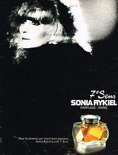 PUBLICITE ADVERTISING 124  1983  SONIA RYKIEL   parfum femme 7° SENS