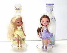 TWO TM & MGA SODA POP GIRL DOLLS YUMMI LAND LANA LAVENDA DOLL IN A BOTTLE