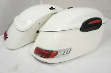 Mutazu RS White Hard Saddlebags for Road Star VTX VULCAN V 650 1100 Shadow 900VN