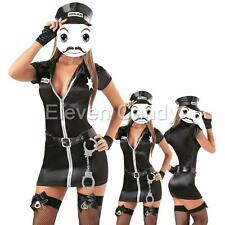 Hot Sexy Police Cop Uniform Officer Costumes Women Halloween Cosplay Fancy Dress