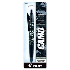 Pilot Camo Ballpoint Pen Black Ink 1.0 Mm Medium Point Us Navy Camouflage Barrel