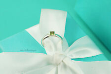 AUTHENTIC Tiffany & Co. Sterling Silver Peridot Stacking Ring Size 5.5 (#919)
