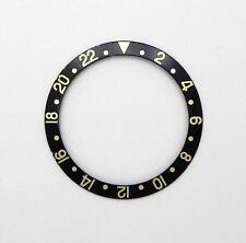 Vintage Rolex 18K GMT Master 2 Black Gold Watch Bezel 16718 16713 Insert  #36k