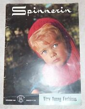 VINTAGE 1966 KNITTING PATTERN BOOK *SPINNERIN - VERY YOUNG FASHIONS* - CHILD
