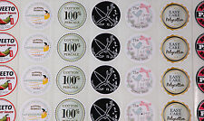 500 FULL COLOUR Round (50mm) Self Adhesive/sticky Paper Labels CUSTOM PRINTED