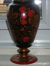 Collectable Vintage Lacquered Floral Vase Made in the USSR Russia
