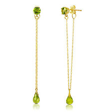 3.15 Carat 14K Solid Gold Chandelier Earrings Natural Peridot