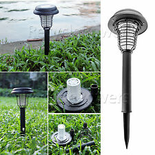 UV Solar Garden outdoor LED Light Lamp Bug Zapper Pest Insect Fly Mosquito Kill
