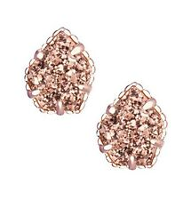 Kendra Scott Tessa Rose Gold Plated Earrings in Rose Gold Drusy