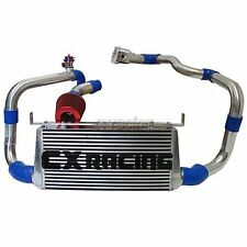 CXRacing Front Mount Intercooler Kit + BOV + Intake For 86-91 Mazda RX7 RX-7 FC