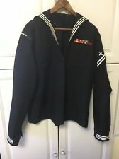 U.S. Navy Size 46 Long 46L Crackerjack Top Shirt With Patches