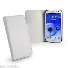 E-volve Samsung S3 Cover Leather Wallet Case - White C9_21