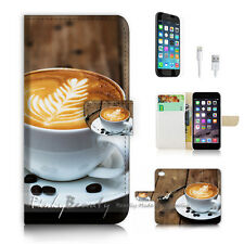 iPhone 7 (4.7') Flip Wallet Case Cover P2644 Coffee