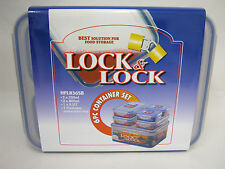 New Lock and & Lock 6 Piece Oblong Food Containers Set HPL836SB