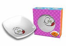 """EYES"" Funny and Colourful Ceramic SQUARE BOWL for Kids 18 cm/ 7 GIFT"
