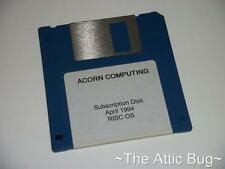 Acorn Computing ~ Subscription Disk ~ April 1994 ~Archimedes / RISC OS/ A3000