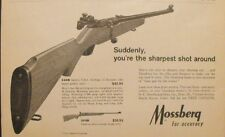 1966 Mossberg 22 Repeater Shotgun Rifle~Gun Hunting Promo Print Trade AD
