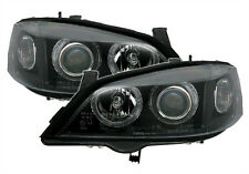 ANGEL EYES Headlights in clear Black color finish for Opel Astra G
