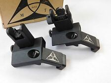Front & Rear Flip Up 45 Degree Offset Rapid Backup Iron Sight -21 PAMAX Tactical