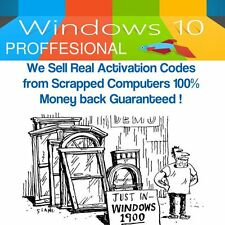 WINDOWS 10 PRO 32 / 64 BIT GENUINE OEM LICENCE KEY, Scrap PC!
