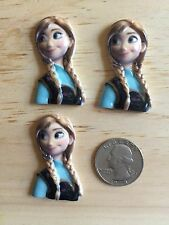 Frozen Princess Elsa Inspired 3 D Flat Back Resin-Cabochon-Hair Bow Center