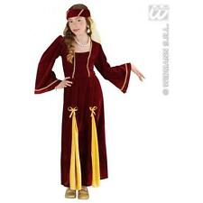 Childrens Girl Medieval Princess Fancy Dress Costume Juliet 8-10 Yrs