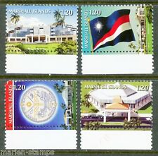 MARSHALL ISLANDS 2015 NAT'L ICONS DEFINITIVES SET(4) MINT NH