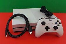 Microsoft Xbox One S Model 1681 2TB Console + Accessories Good Used No Box #45wQ