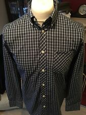 BEN SHERMAN BUTTON DOWN SHIRT-BLUE/WHITE CHECK-SMALL-MOD/SKINHEAD/VINTAGE/VESPA