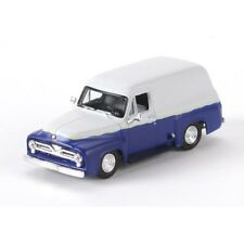 HO Scale 1955 Ford F-100 Custom Panel Truck - Blue & Gray - Athearn #26496