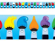 Colourtime Paintbrushes - School Classroom Display Border - Bolder Borders