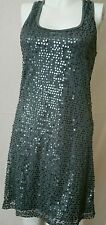 Mossimo Women's Gray Sequin Beaded Cowl Neck Body Con Dress size PXS(#8178)