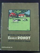 catalogue ernest ronot materiel agricole abreuvoirs machines laver porcherie