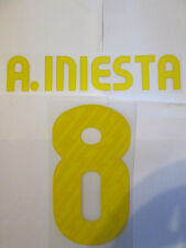 A Iniesta 8 Barcelona 2010-2011 Home Football Shirt Name Set Adult Sporting ID