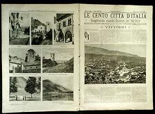 1893 = LE CENTO CITTA D'ITALIA = VITTORIO VENETO = TREVISO  ITALIA.ETNA.SONZOGNO