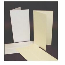 50 DL SIZE WHITE BLANK CARDS 225gsm & ENVELOPES 120gsm CARD MAKING CRAFT ART 263