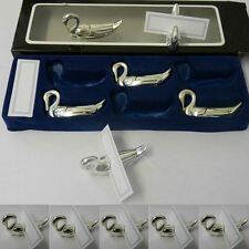 12 x Silver Swan Wedding Table Name Card Holders Christmas Party Place Settings